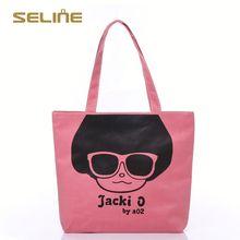 Fashion promotional cotton canvas duffel bag