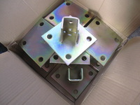 Steel Square Post Base Plate