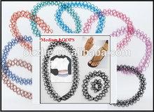 aks Sexy Wave henna Tattoo stretch Choker Bracelet necklace