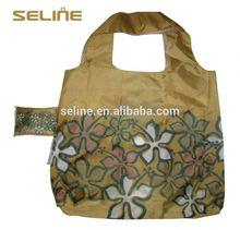 Promotional customized size&logo wholesale nylon foldable reusable shopping bag