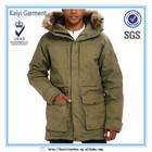 green fashion long winter parka coats and jacket for men