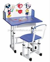 cheaper children school furniture student Study desk and chair set,XM-102