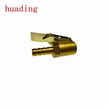 "HIgh quality air chuck with clup(brass) size: 1/4"" ,5/16"" hose barb , air chuck ,portable car tire inflator pump"