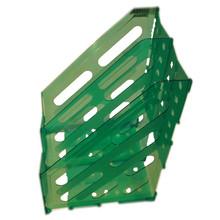 Plastic foldable magazine holder