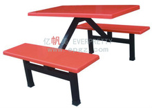 2014 High quality cheap firber glass college canteen eating table with chair set