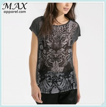 World famous brand style women clothing lightweight round neck cap sleeves 3d printing t-shirts online wholesale shop