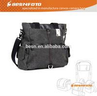 Dark Grey Waterproof Canvas Hard bag for dslr, slr camera and laptop computer