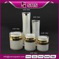 Srs 15ml 30ml 50ml airless kosmetische flasche aus kunststoff mit zerstäuber, Luxus acryl cremetopf und sprühpumpe verpackung für den großhandel