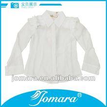 Long sleeve little girl fashionable 2012 white girl designer casual blouses