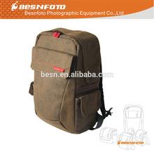 Ergonomic Design Promotional Canvas Photo Backpack for dslr camera laptop and tripod