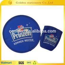 folding promotion flying disc foldable nylon frisbee fan