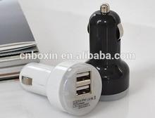 led light 2 usb car plug adapter 2.1A