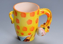hot sale ceramic 3d custom giraffe coffee mug