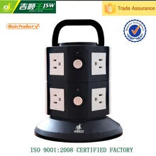 American 110v multi extension socket/vertical power extension socket adapter/multi switched socket