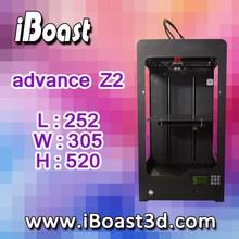 Grande FDM stampante 3d iboast anticipo z2 FDM stampante 3d coperti da cassa del metallo!( @z201)