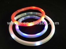 High quality heavy duty led dog collar 2012 with flashing