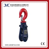Light Type Champion Snatch Pulley Red Hook and Blue Body Snatch Block