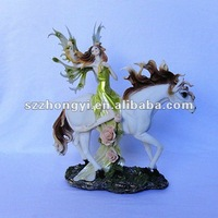 Factory Supply Resin Horse With Woman