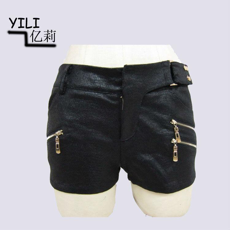 Senhoras casuais / calças dos homens calças de couro preto projeto 2014