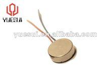 3.0V DC coin type vibrator motor, cell phone vibrating motor, mini electric motor