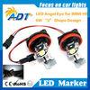 For BMW Angel Eyes H8 LED Marker Bulb high power 6W WHITE