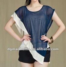 hot sale viscose chiffon women lining t shirt