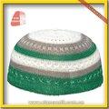 การออกแบบใหม่ล่าสุดสีขาวถักหมวกสวดมนต์อิสลามpc007