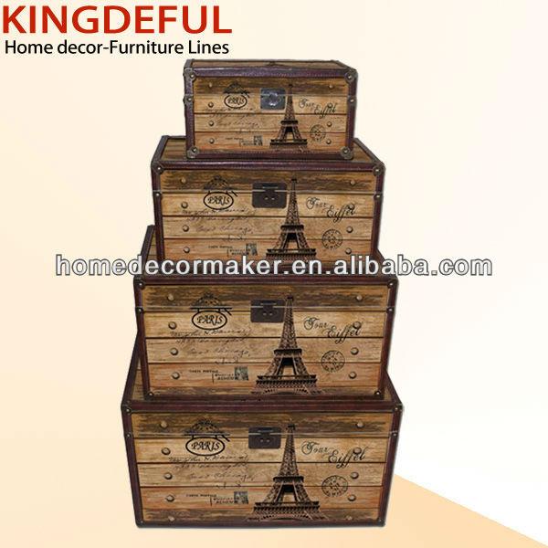 vintage mdf en bois coffre de rangement bo tes caisses de rangement id du produit 617955990. Black Bedroom Furniture Sets. Home Design Ideas