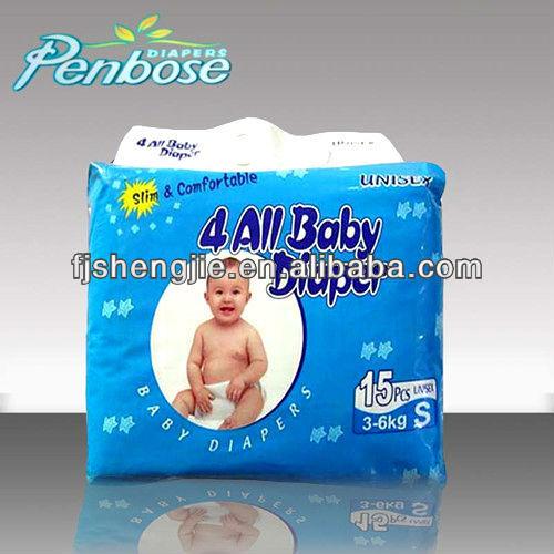 Cute Design Sleepy Baby Diaper Manufacture