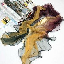 Modern lady silk chiffon scarf shawls