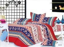 impressa reactiva tecido de algodão para a cama set
