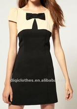 fashion summer office ladies dress decorated with butterfly