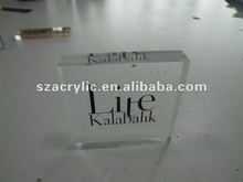 silkscreen acrylic logo display