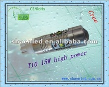 t10 15W high power -newest auto led bulbs cree chips-hottest t10 high power auto bulbs