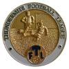 Classic 3d gold football metal custom sports medal