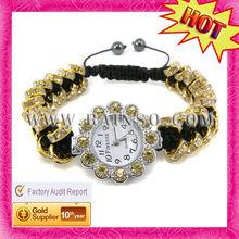 Unique Women's Golden Plated Fashion Shamballa watches 2012