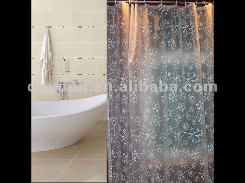 european clear transparent pvc shower curtains view