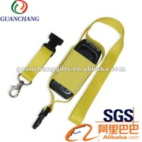 custom elastic band cell phone lanyard with pouch