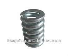 Ends Closed and Gound Compression Spring, Zinc Plated