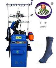 Plain and terry computeried jacquard socks knitting machine