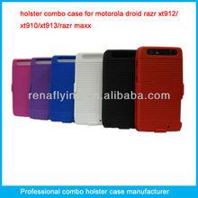 Shell holster combo case cover for Motorola droid razr xt910
