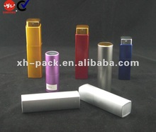 aluminium tube glass perfume bottle with screen printing