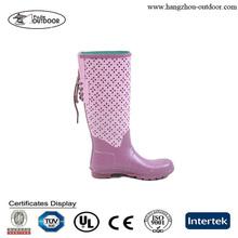 2014 Wholesale Korean Fashion Boots,Long Rubber Boots,Ladies Rain Boots With Shoelace