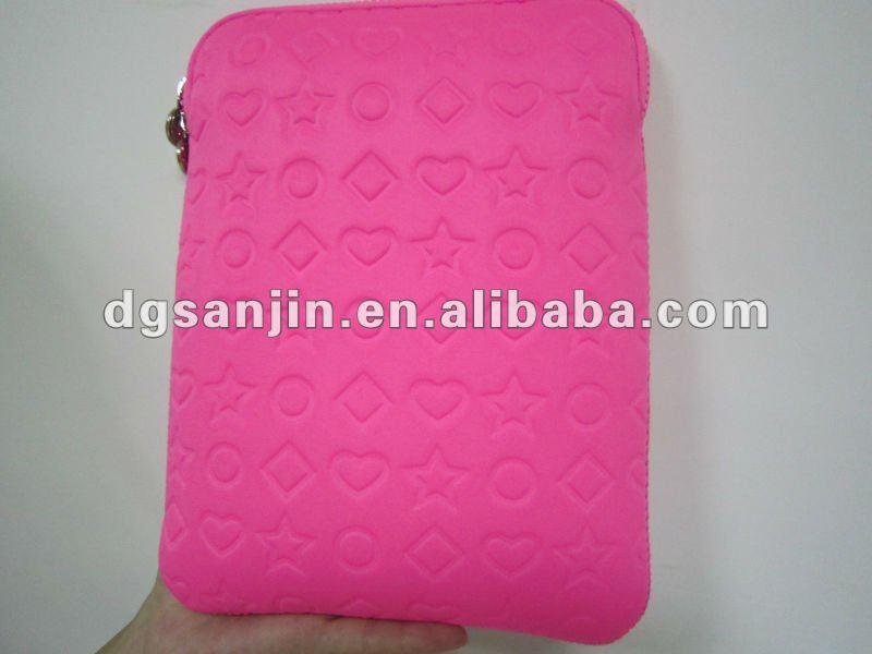 2013 designer emboss pink tablet laptop case computer bag