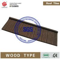 Wood Type Metal Roof|Waviness Stone coated metal roof tiles|Roof shingles