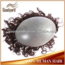 Brazilian hair high quality virgin human hair men's toupee