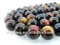 Venta caliente ky001-b 10mm grado aaa ronda de bolas de colores ojo de tigre piedras preciosas naturales