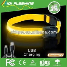 Hot Selling Sample Free Pet Product USB Charge LED Flashing Dog Collar