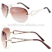 2012 man's hot metal frame top cool brown UV400 sun glasses