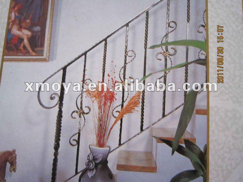 Balustrades d'intérieur modernes décoratives d'escalier en métal